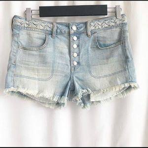 American Eagle Outfitters button fly denim shorts